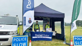 Dorset Police community engagement event in a tent