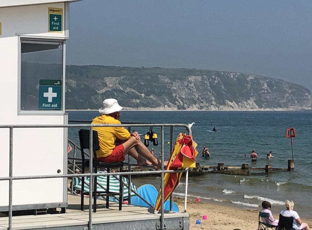 Lifeguard on Swanage Beach