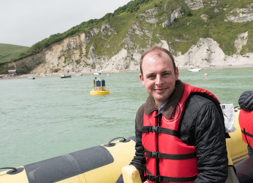 Matt Warman MP visits 5G buoy