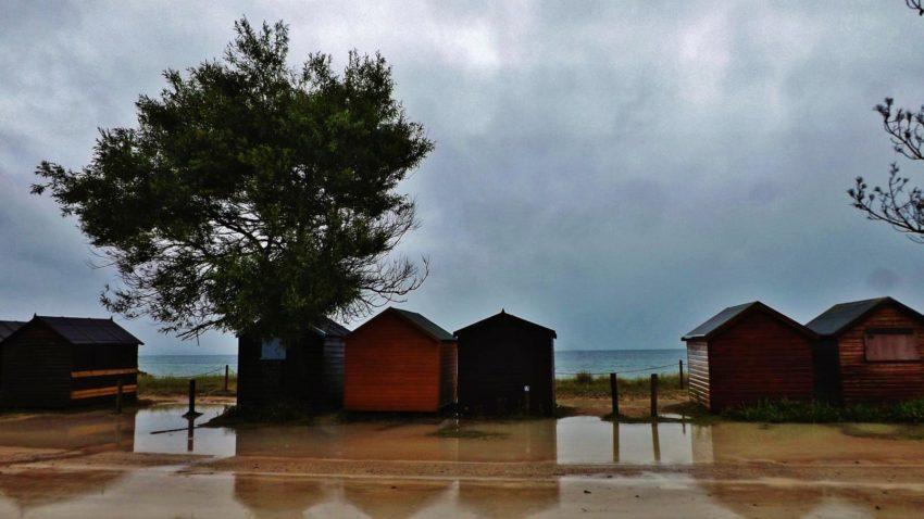 Rain at Studland Beach