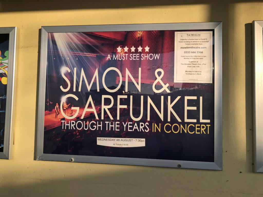 Simon and Garfunkel poster at The Mowlem
