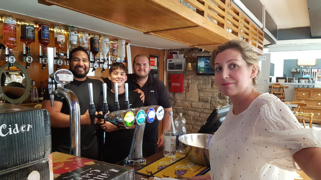 Staff at The White Swan