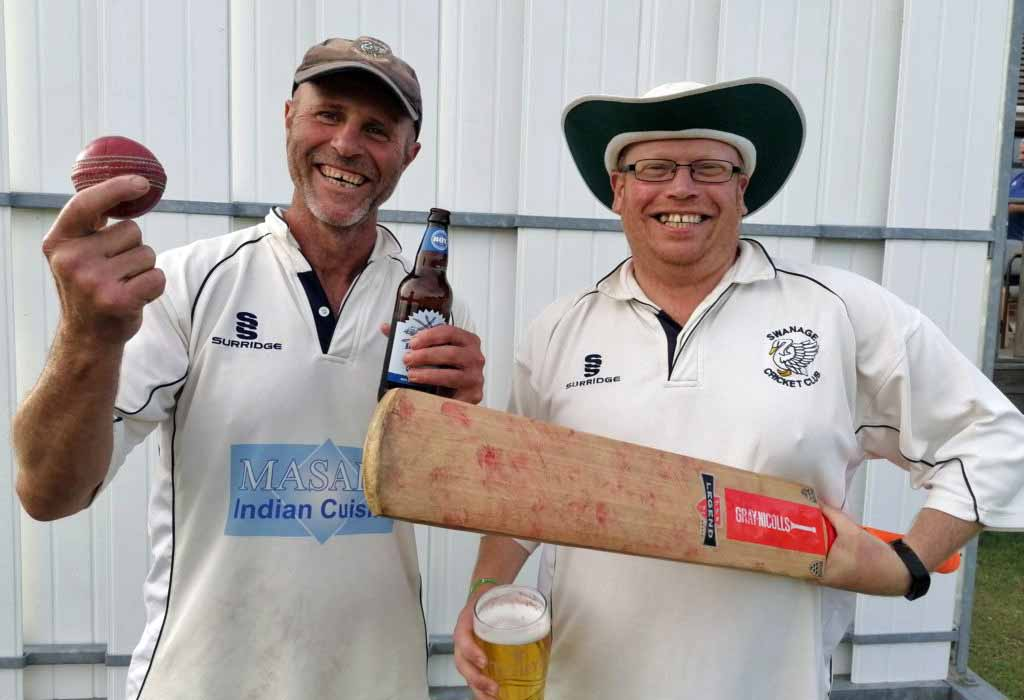 Players at Swanage Cricket club