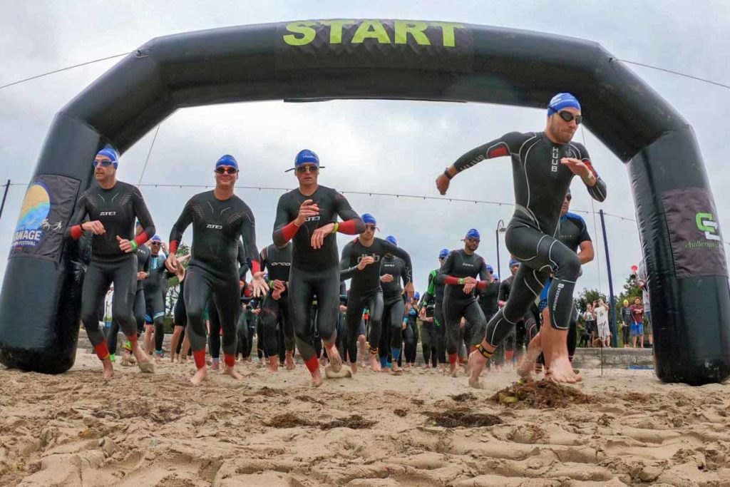 Runners at the Swanage Triathlon