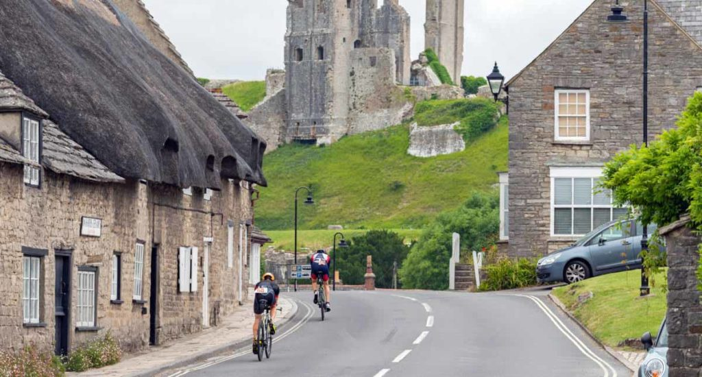 Cyclists at the Swanage Triathlon