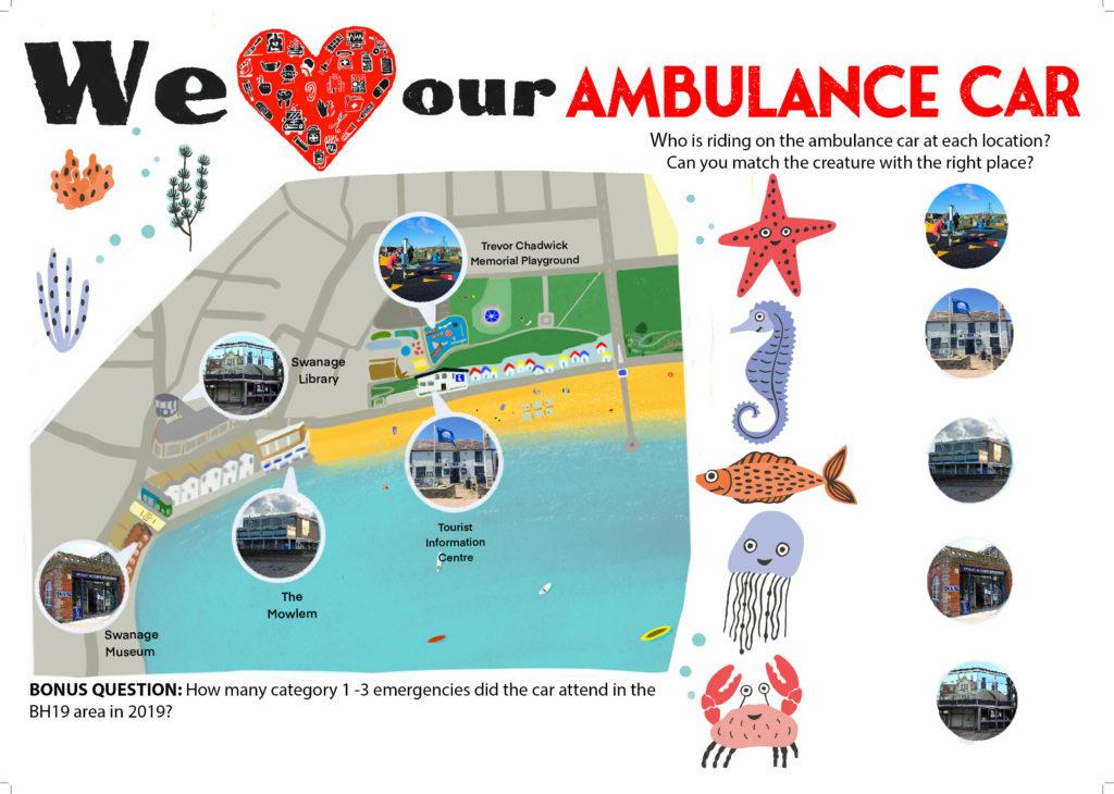Ambulance car summer trail map