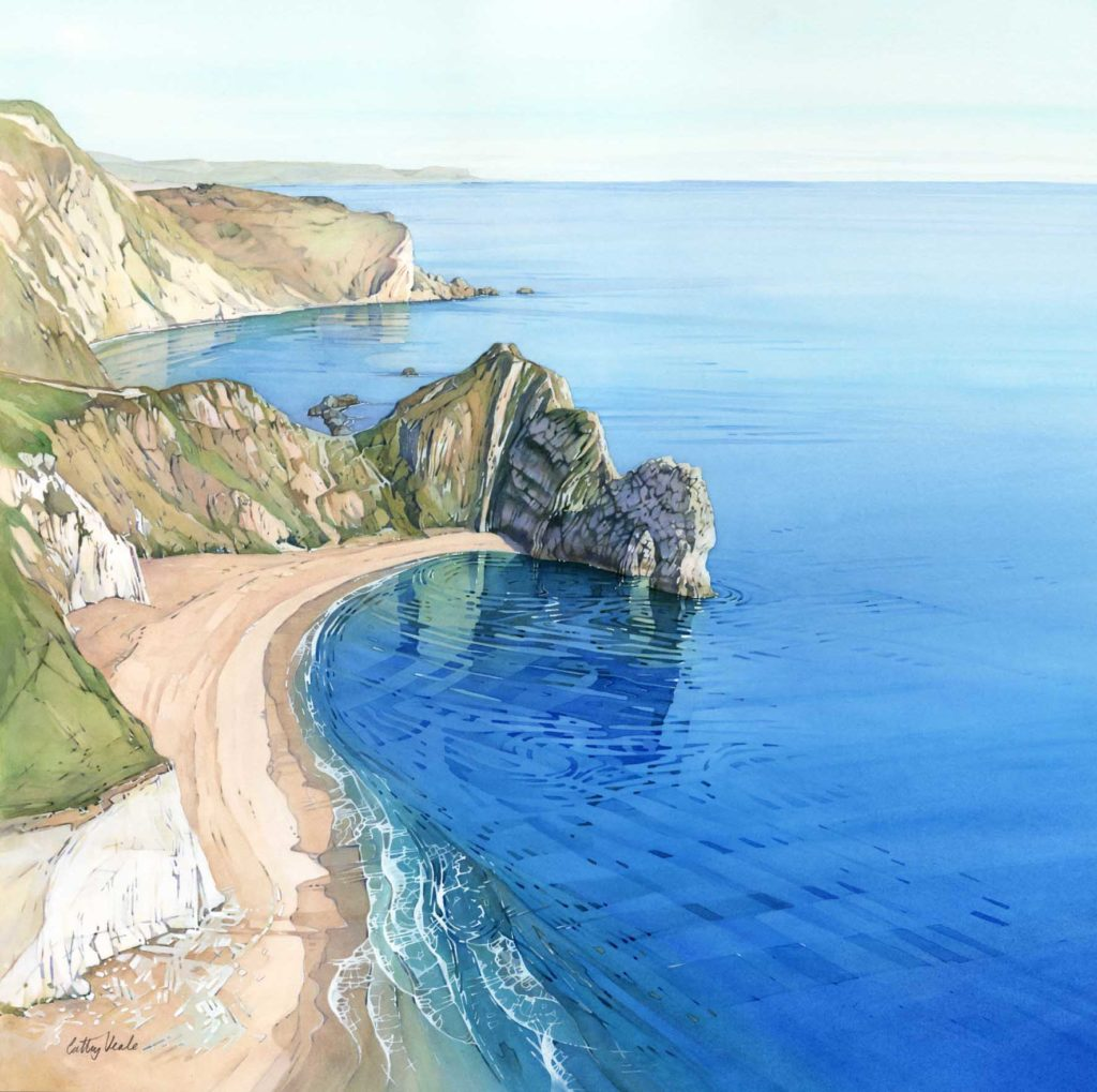 Painting by Cathy Veale of Durdle Door
