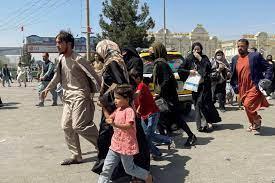 Afghans fleeing the Taliban
