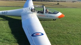 Air cadet in training glider