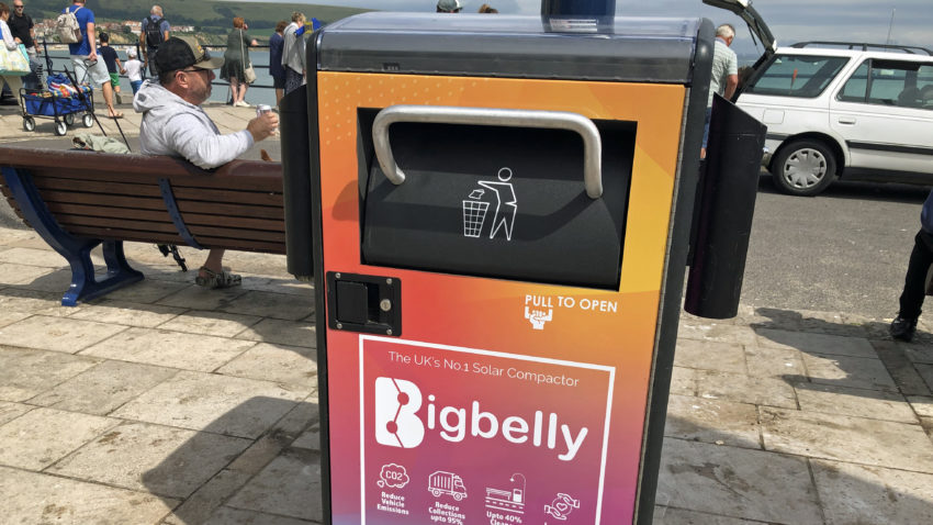 Bigbelly bin in Swanage
