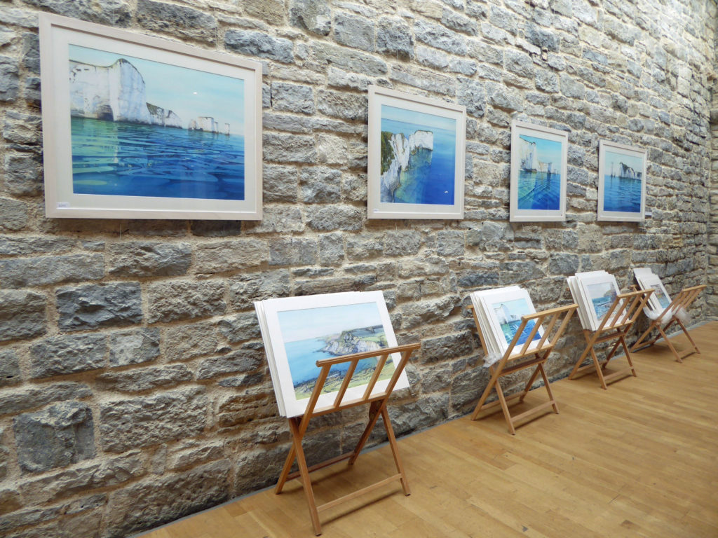 Cathy Veale exhibition in the Fine Foundation Gallery at Durlston