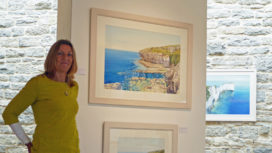 Cathy Veale in the Fine Foundation Gallery at Durlston