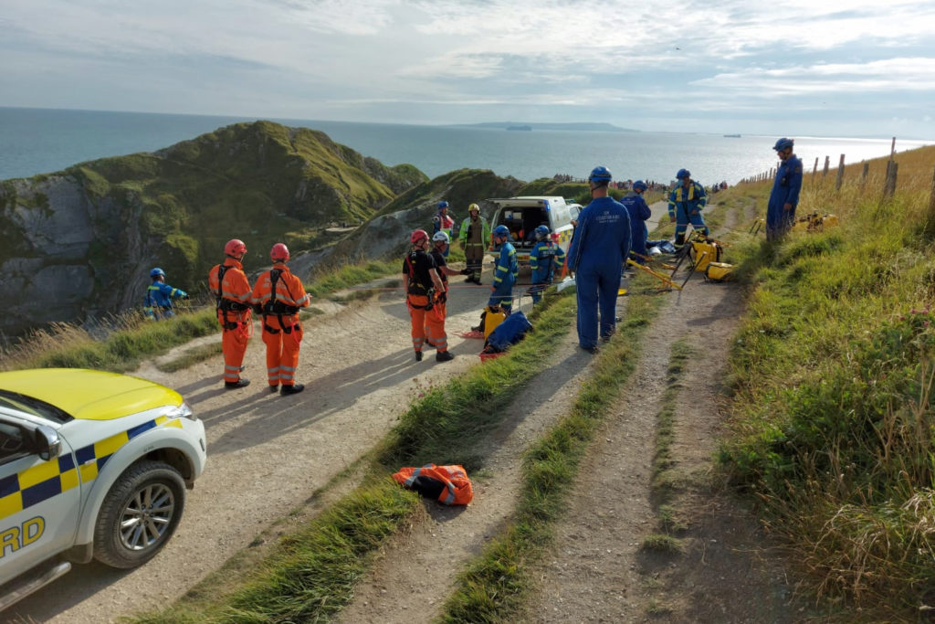 Cliff rescue at Durdle Door