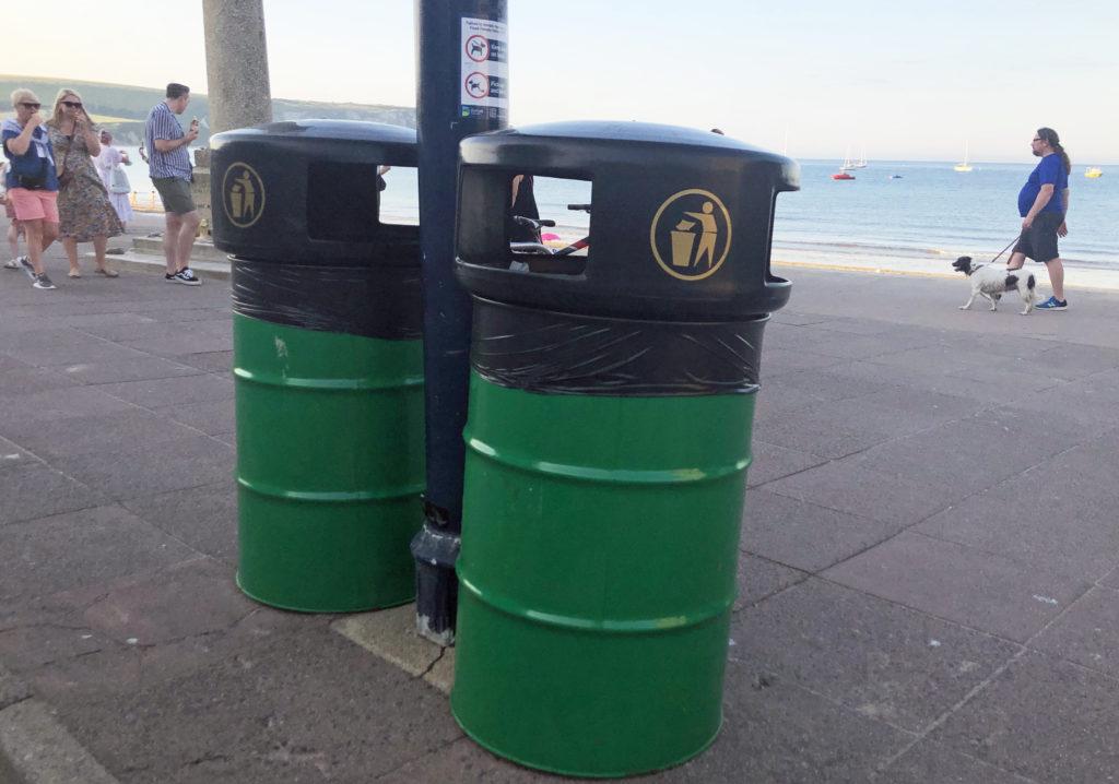 Two barrel bins