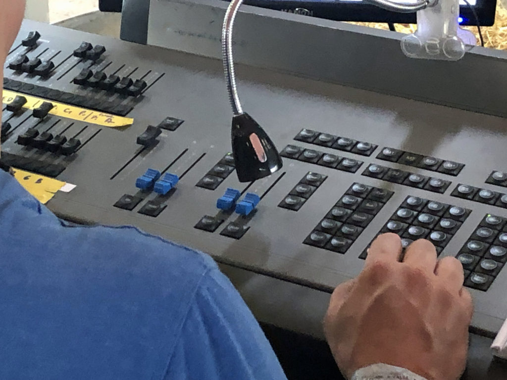 Mixing desk at Purbeck Valley Folk Festival 2021