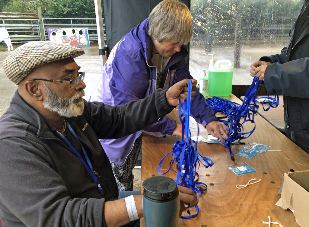 Volunteers at Purbeck Valley Folk Festival 2021