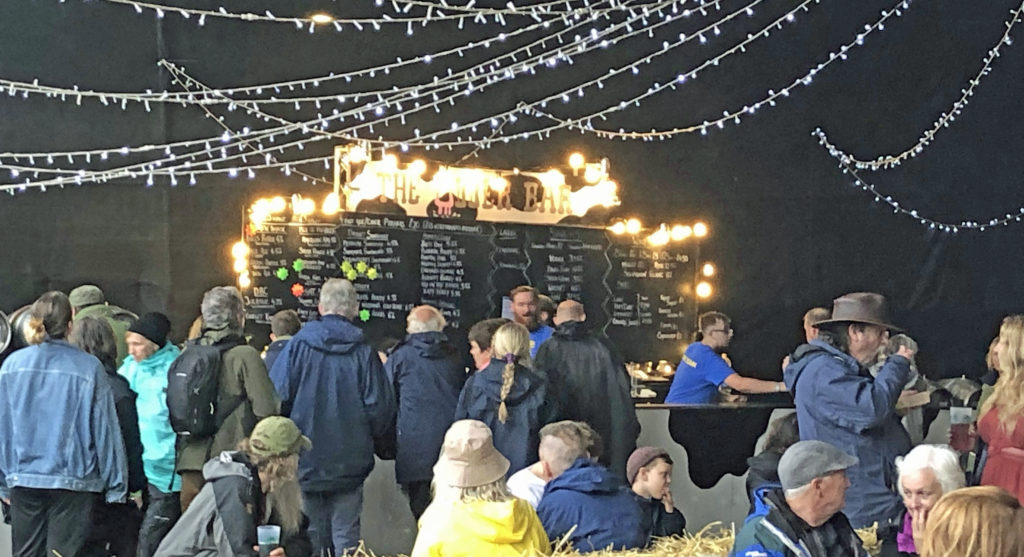The bar at the Purbeck Valley Folk Festival 2021