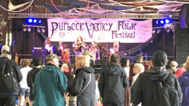 The main stage at the Purbeck Valley Folk Festival