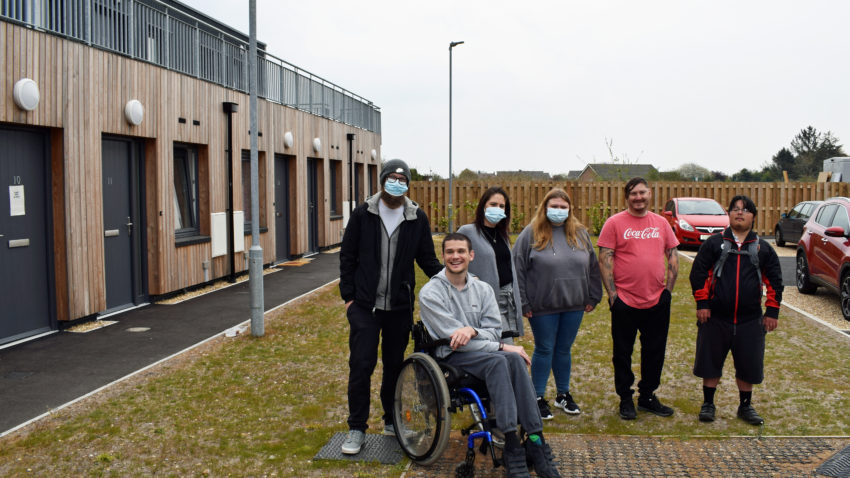 Staff and residents at Red Oak Court, Wareham