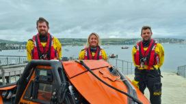 Three Swanage Lifeboat crew