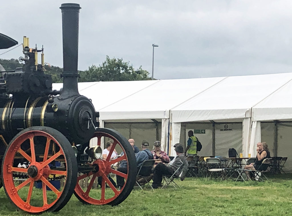Beer tent and steam roller