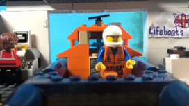 Lego lifeboat goes to the rescue