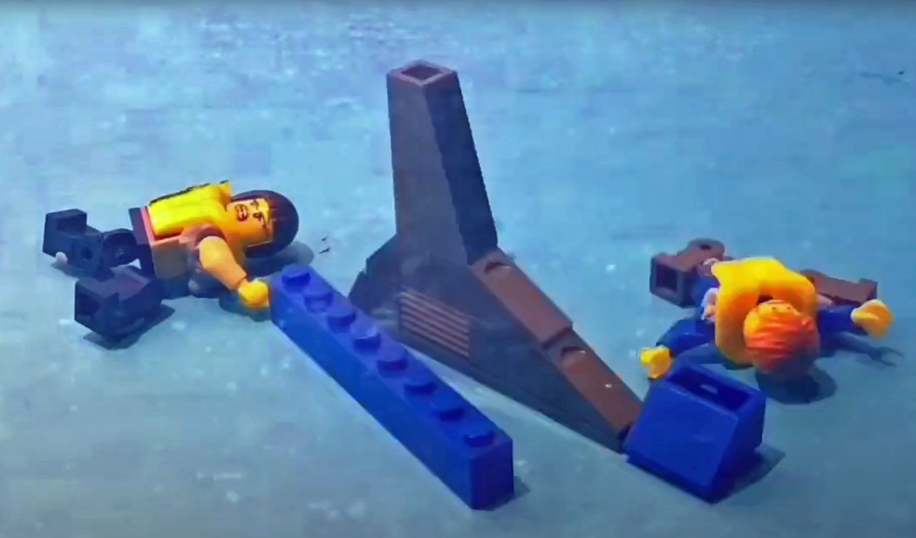 Lego casualties wait to be rescued from shark