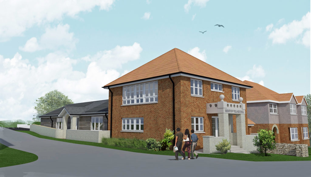 Architect impression of the new Herston Village Hall