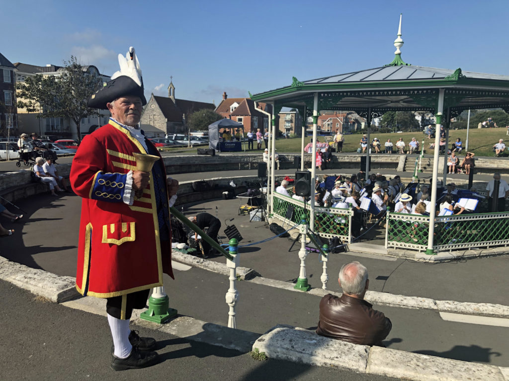 Town Crier at Swanage Bandstand
