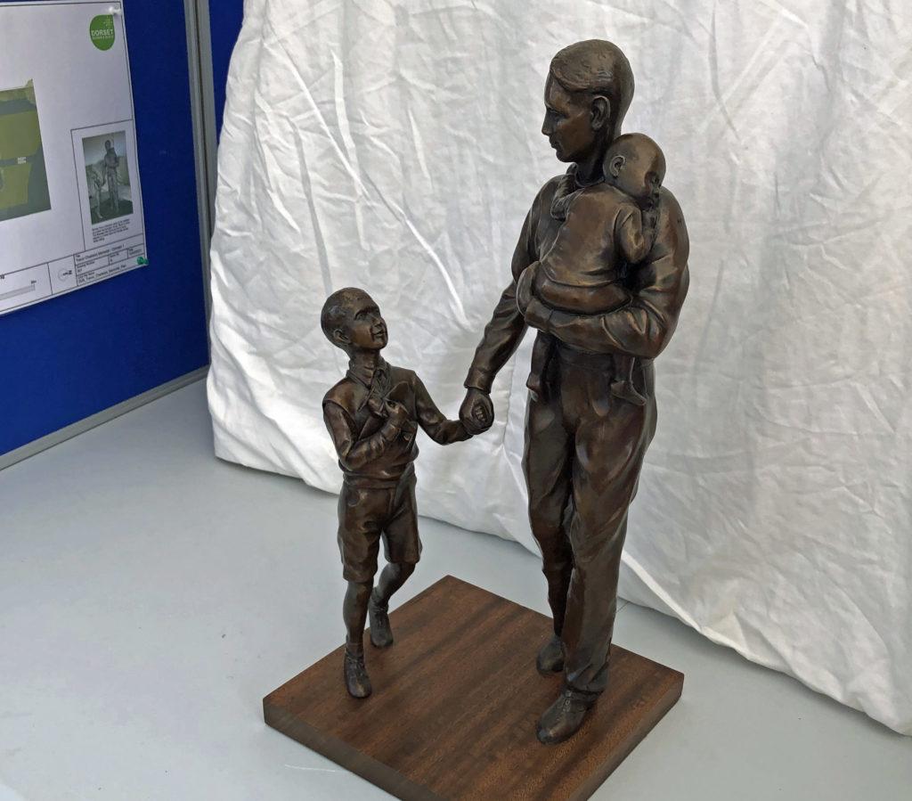 Trevor Chadwick bronze maquette