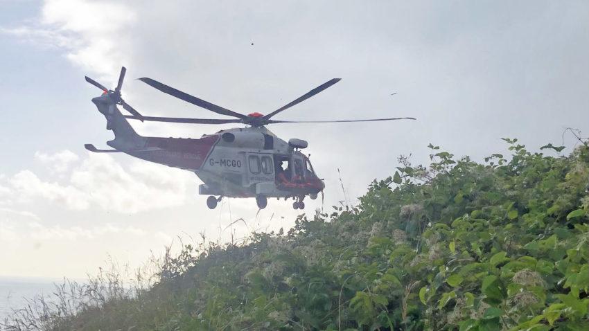Coastguard helicopter rescues walker