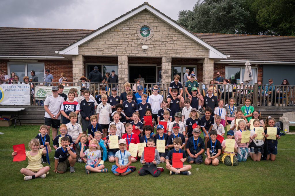 Youth players at Swanage cricket