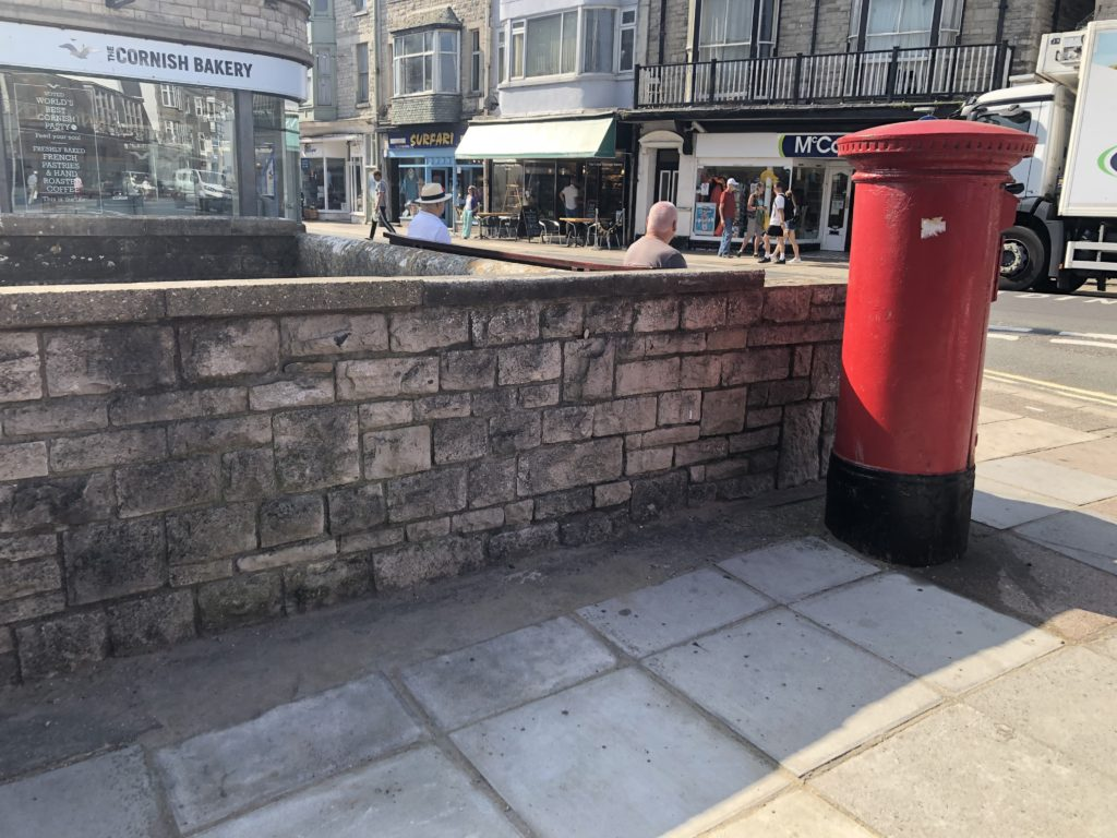Space where telephone box was removed