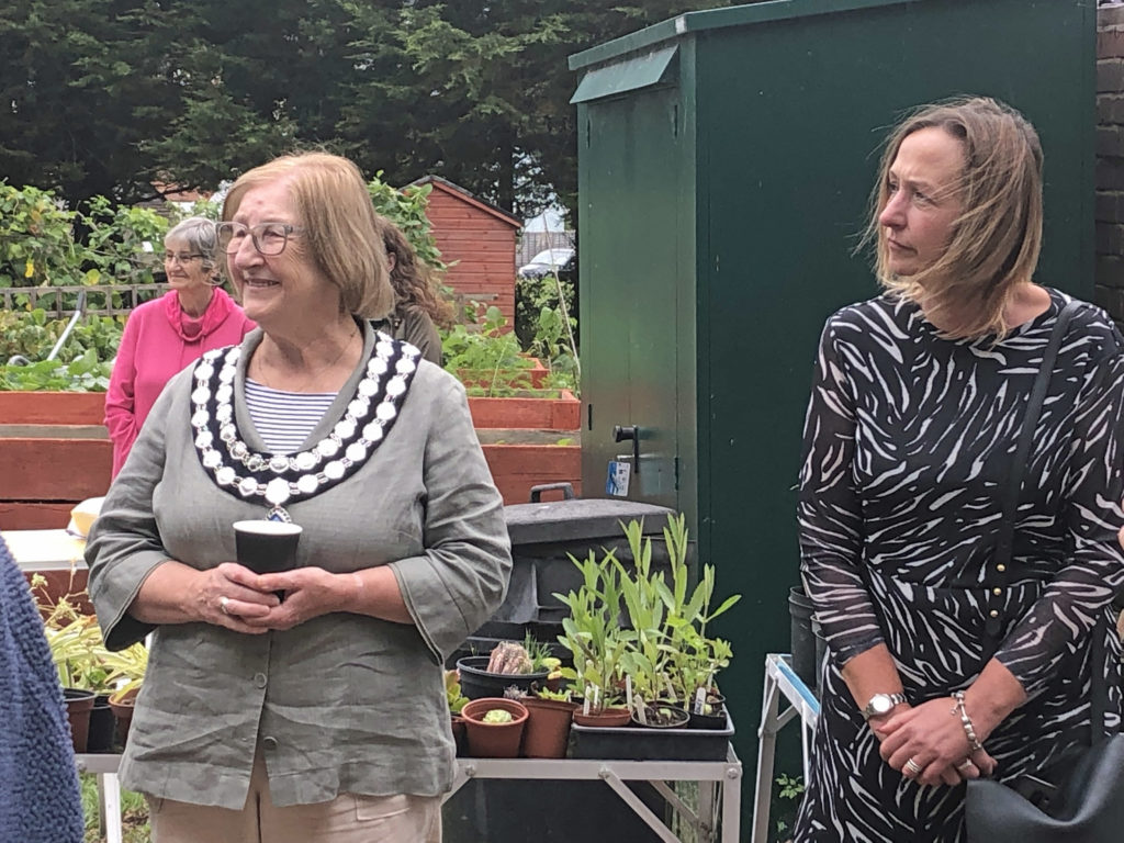 Swanage Town Mayor Avril Harris and Operations Manager Gail Percival