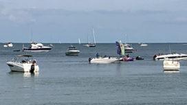 Boats in Studland Bay