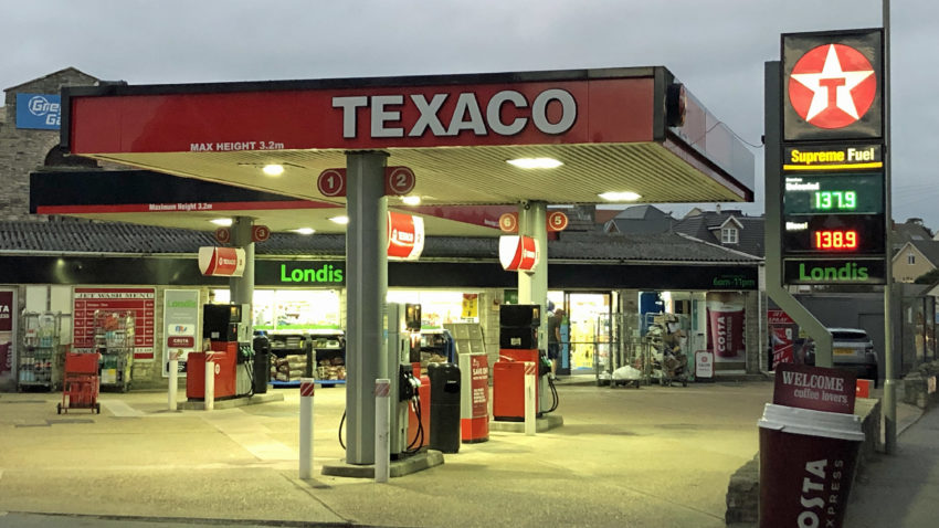 Texaco Garage in Swanage