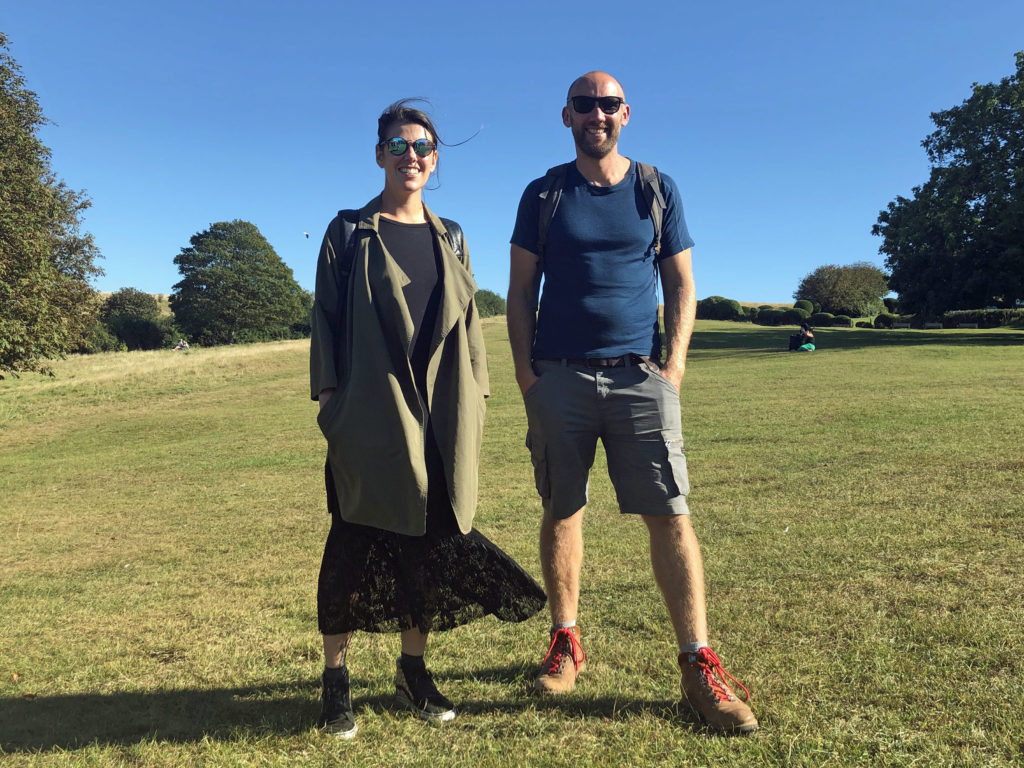 Heidi Florence and Rob Waitt on Swanage Downs at Planet Purbeck Festival