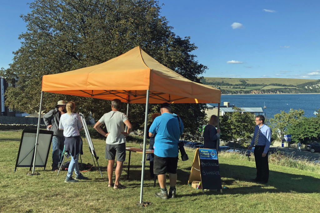 Sustainable Swanage tent at Planet Purbeck Festival
