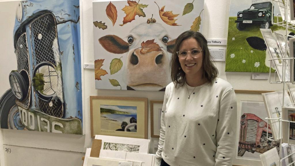Lucy Tidbury at Rollington Barn Exhibition