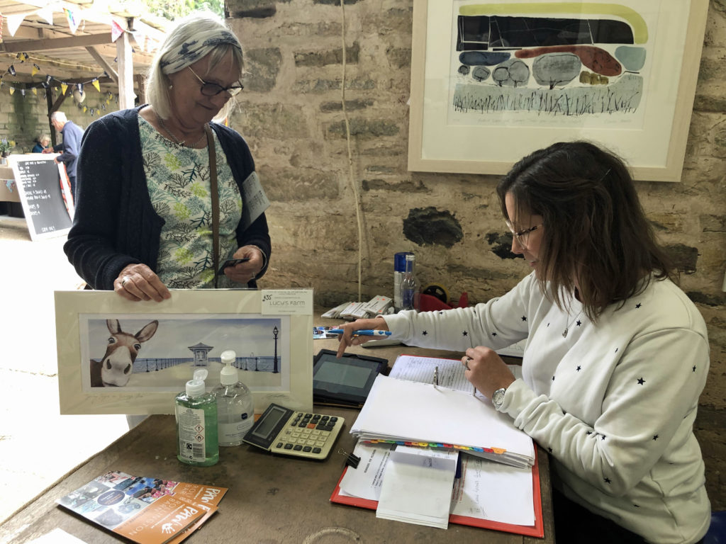 A sale of a print at Rollington Barn Exhibition