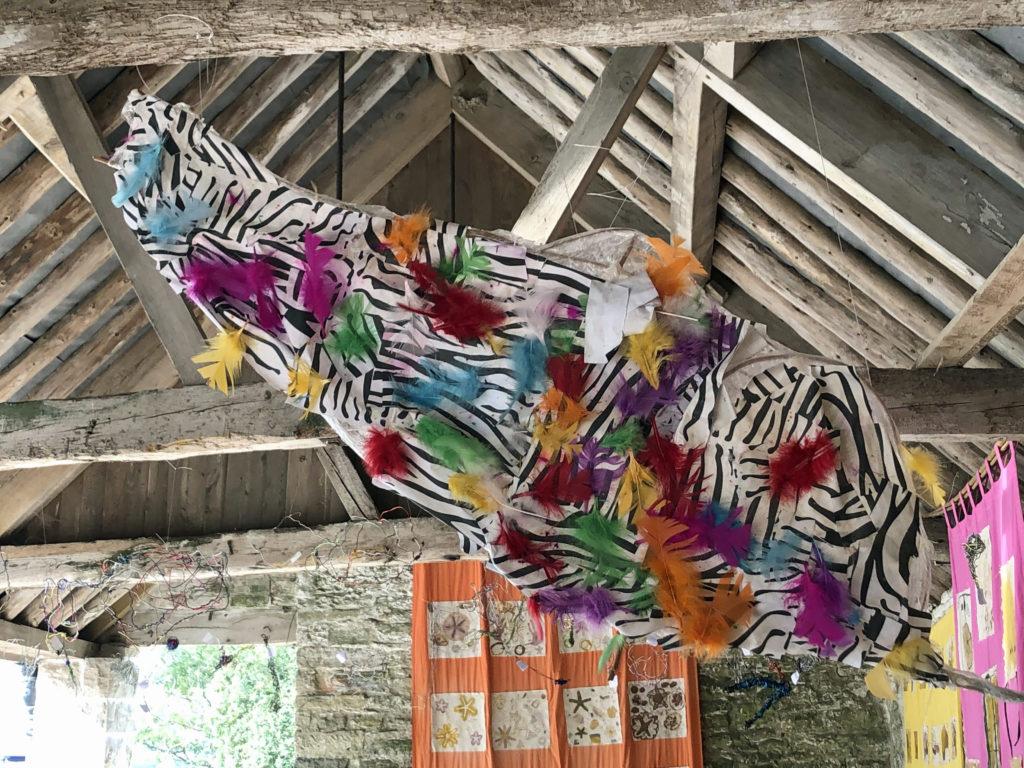 Children's artwork at Rollington Barn Exhibition