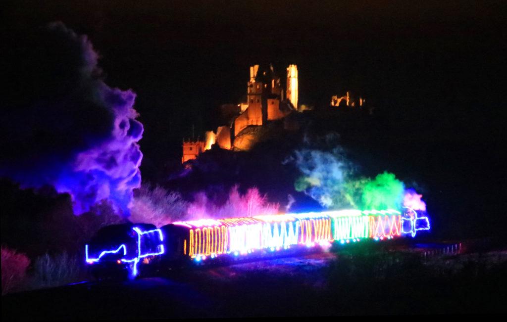 Swanage railway's steam and lights train