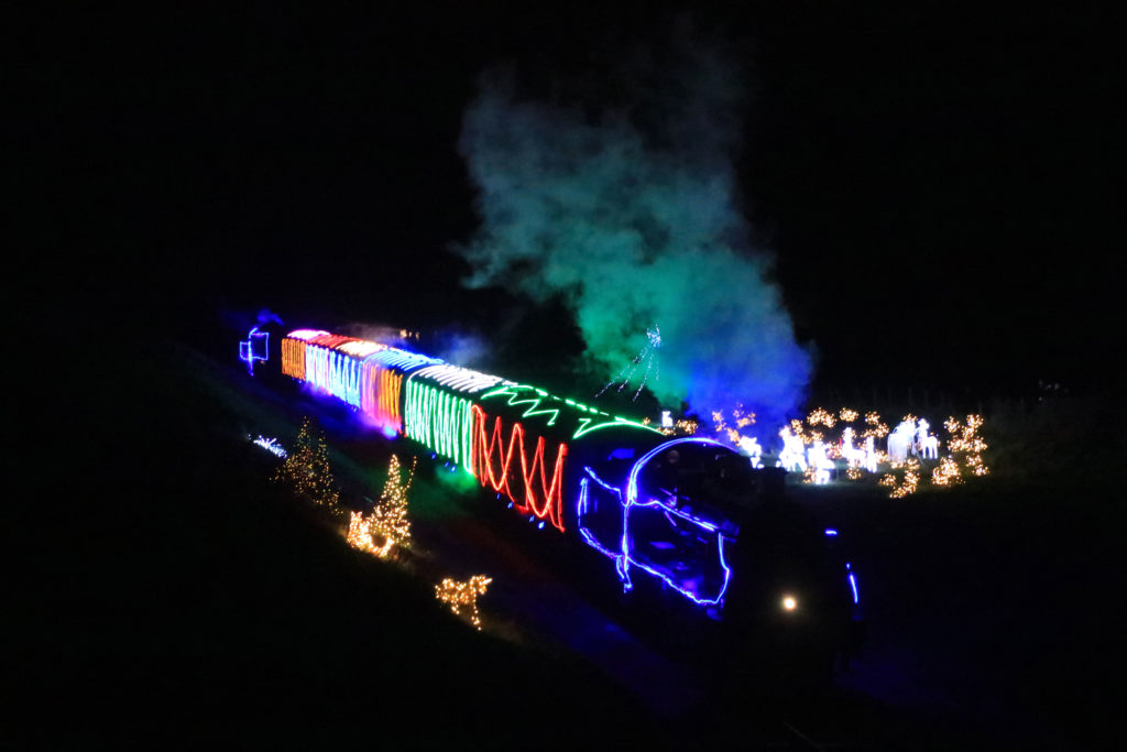Swanage railway's steam and lights trains
