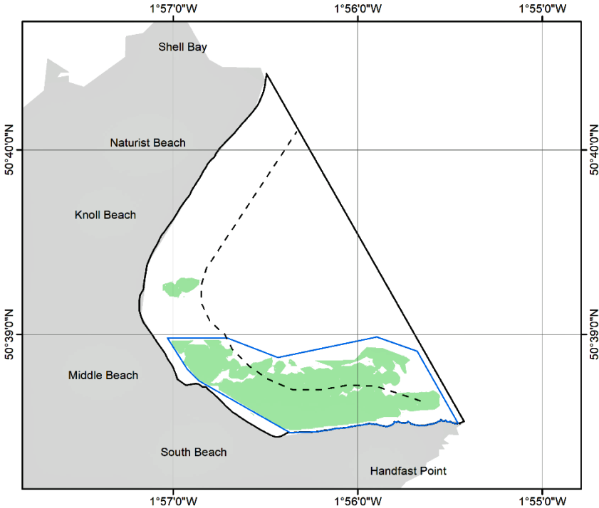 Map of voluntary no anchor zone from 1st June 2022