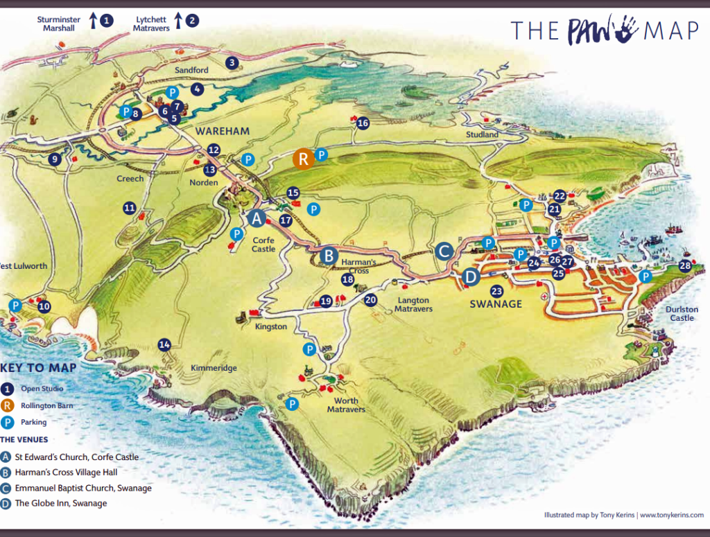 Map of the PAW open studios