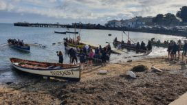 Sea rowing competition at Swanage