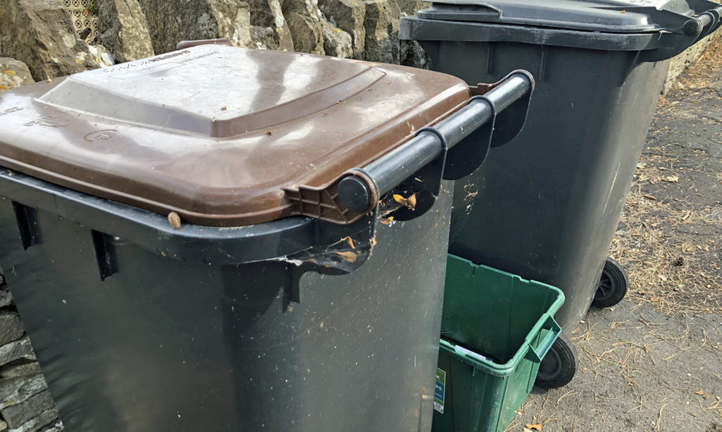 Uncollected bins