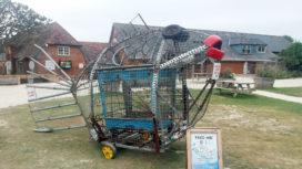 Wanda the fish recycle bin in Lulworth