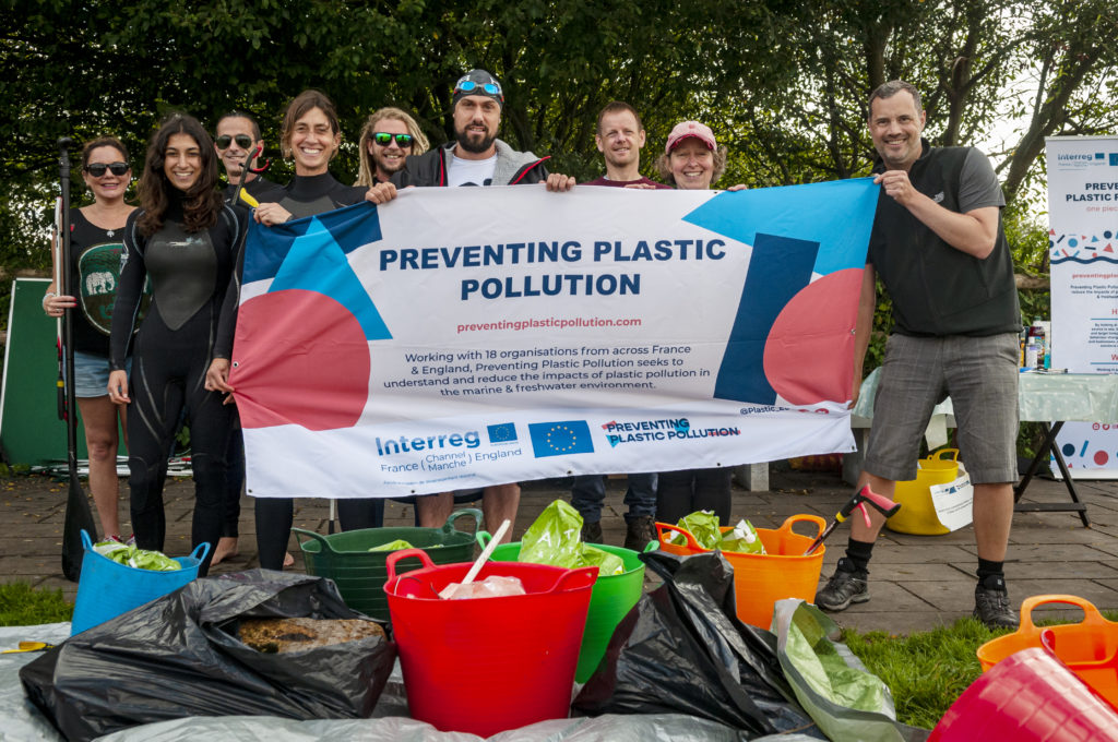 litter pickers and the rubbish