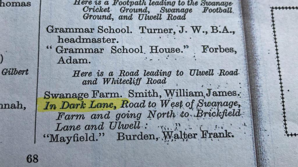 Swanage Street Directory 1934